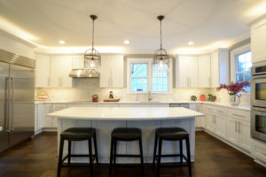 kitchen remodel with big kitchen island